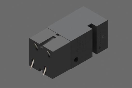 Samocentrirajuća pneumatska mini hvataljka sa iglama, 4 igle, 3-8 bara, M5, pričvršćivanje na ploči - PT23A3