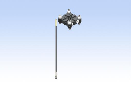 Sada pro robot TM, QC75-B, CMAQC, 8kolíkový úhlový konektor s vnějším závitem, digitální snímač, rovné konektory Ø6 mm (strana B) - KIT-TM-QC75-B